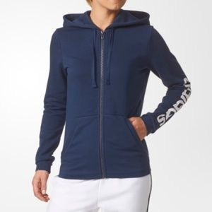 Adidas Linear Hoodie NWT Large Blue